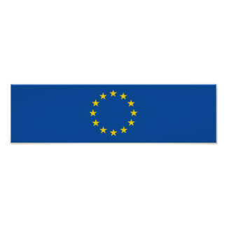 Abstract European Flag, Europe Poster
