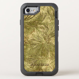 Abstract evergreen needles his name camouflage OtterBox defender iPhone 7 case