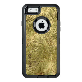 Abstract evergreen needles his name camouflage OtterBox defender iPhone case