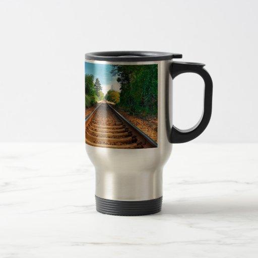 Abstract Everyday Along The Tracks Coffee Mugs