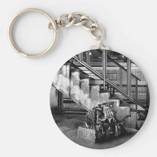 Abstract Everyday Car Engine Keychain