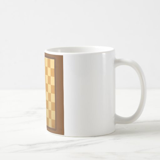 Abstract Everyday Chess Board Coffee Mugs