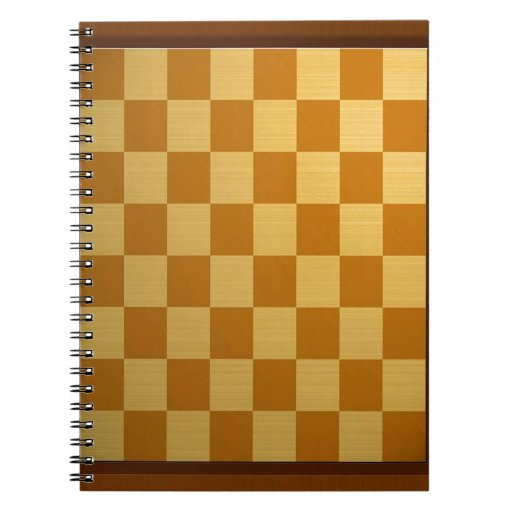Abstract Everyday Chess Board Spiral Note Books