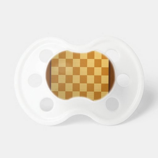Abstract Everyday Chess Board Baby Pacifier
