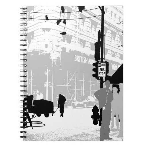 Abstract Everyday City Life Note Book
