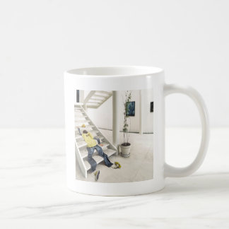Abstract Everyday Climb Stairs Coffee Mugs