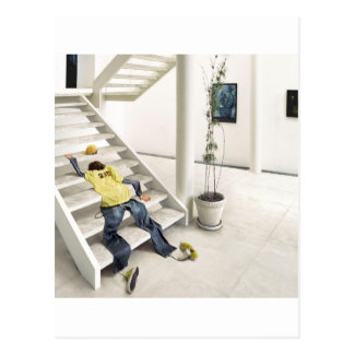 Abstract Everyday Climb Stairs Postcard