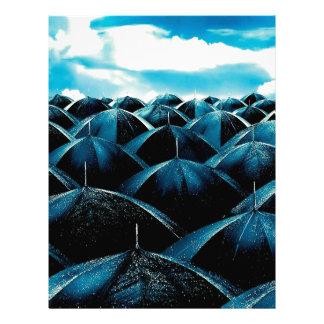 Abstract Everyday Rain Protection Letterhead Template