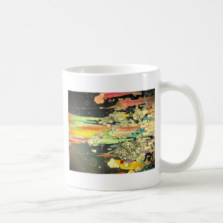 abstract everyday splash paint classic white coffee mug