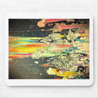 abstract everyday splash paint mouse pad