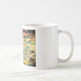 abstract everyday splash paint basic white mug