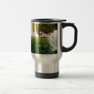 Abstract Everyday White Feather Mugs