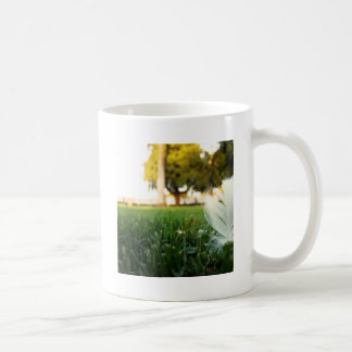 Abstract Everyday White Feather Coffee Mug