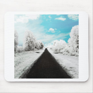 Abstract Everyday Winter Roads Mouse Pad