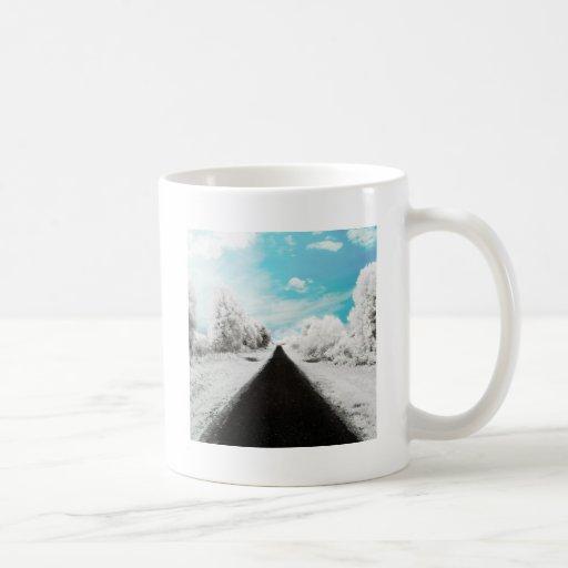 Abstract Everyday Winter Roads Coffee Mugs