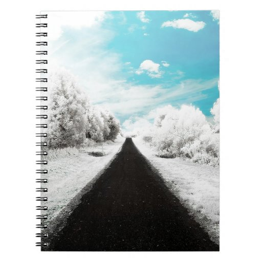 Abstract Everyday Winter Roads Notebooks