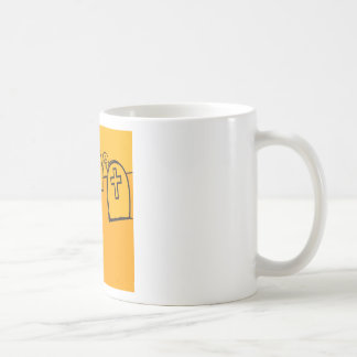 Abstract Everyday Yellow Grave Stones Coffee Mugs
