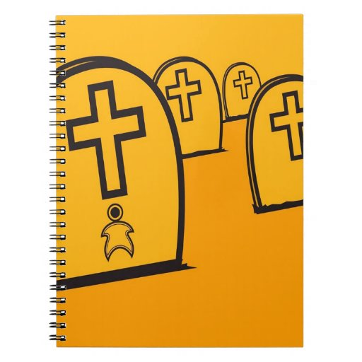 Abstract Everyday Yellow Grave Stones Notebook