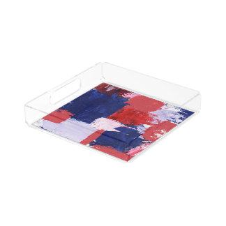 Abstract Expression #1 by Michael Moffa Serving Tray