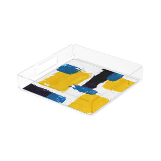Abstract Expression #2 by Michael Moffa Serving Tray