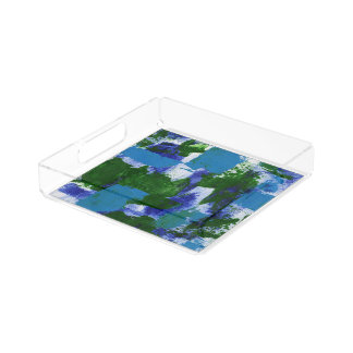 Abstract Expression #4 by Michael Moffa Serving Tray