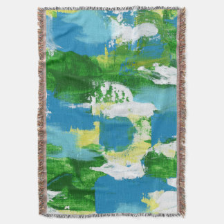 Abstract Expression #5 by Michael Moffa Throw Blanket