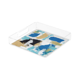 Abstract Expression #6 by Michael Moffa Serving Tray