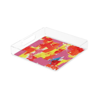 Abstract Expression #7 by Michael Moffa Serving Tray