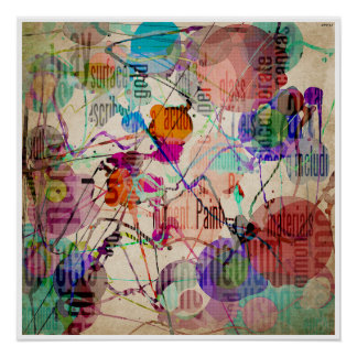 Abstract Expressionism 1 Poster