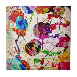 Abstract Expressionism 2 Ceramic Tiles