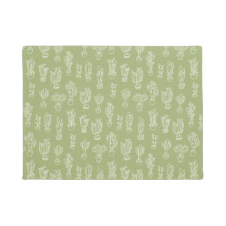 Abstract Expressionism Cactus Line Art Pattern Doormat