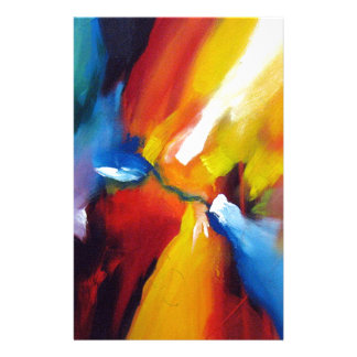 Abstract Expressionism Painting Stationery Paper