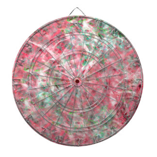 Abstract Expressionist Dance in Pink and Green Dartboard
