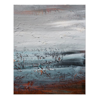Abstract Expressionist Landscape Poster