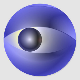 Abstract Eye Classic Round Sticker