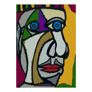 Abstract Face 12 Poster