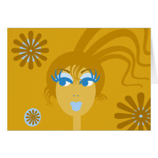 Abstract Face Blank Notecard