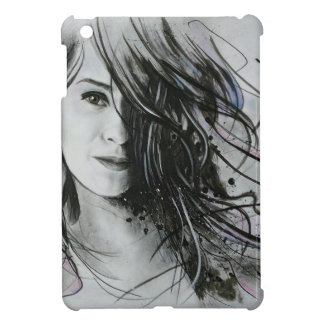 Abstract face case for the iPad mini