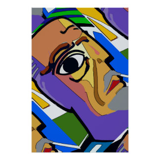 Abstract Face Poster