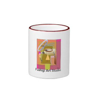 Abstract Face Ringer Mug