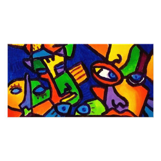 Abstract Faces 4 by Piliero Picture Card