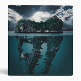 Abstract Fantasy Artistic Island 3 Ring Binders