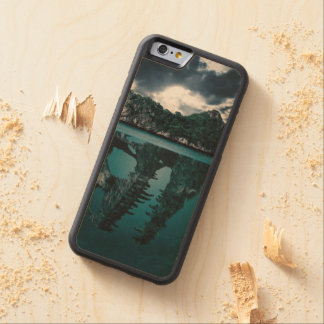 Abstract Fantasy Artistic Island Carved Maple iPhone 6 Bumper Case