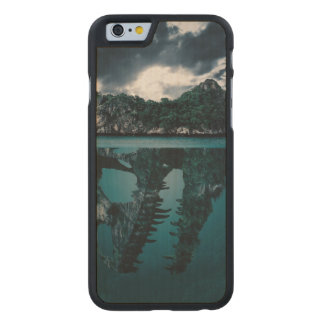 Abstract Fantasy Artistic Island Carved Maple iPhone 6 Case