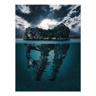 Abstract Fantasy Artistic Island Photo Print