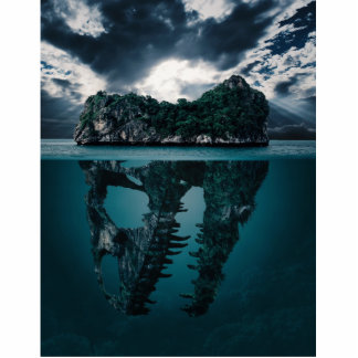 Abstract Fantasy Artistic Island Photo Sculpture Magnet