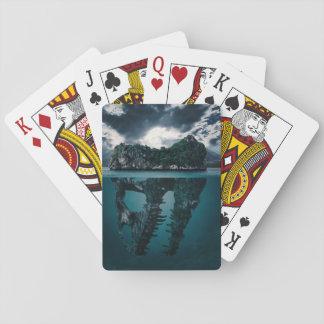 Abstract Fantasy Artistic Island Poker Deck