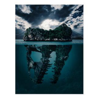 Abstract Fantasy Artistic Island Postcard