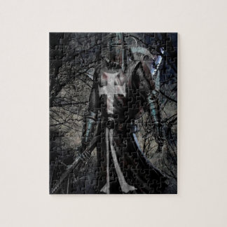 Abstract Fantasy Black Knight Plague Jigsaw Puzzle