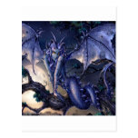 Abstract Fantasy Dragon Girl Flirt Postcard